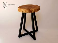 Stool, model name: X-Fit. Material: Birch tree and Steel