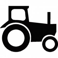 Tractor Silhouette in a Triptyck? Blue on navy, like nursery elephants.