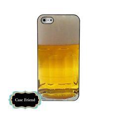 Beer iphone5 hard case funny iphone black hard case | casefriend - Accessories on ArtFire