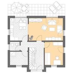 Moderne Häuser | Pultus 127, Grundriss Erdgeschoss