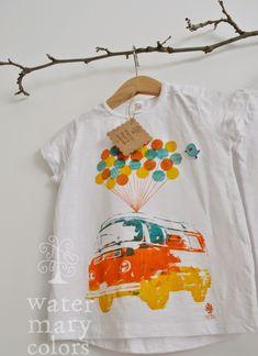 Watermarycolors: Estampación manual: Camisetas infantiles Watermarycolors