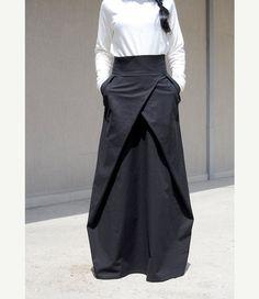 faldas largas faldas de cintura alta falda maxi femenino