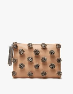 Loeffler Randall / Tassel Pouch in Natural/Silver