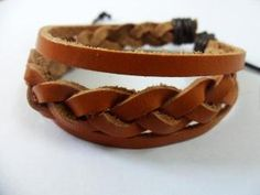 love it! only $3.50!!Brown Soft Leather Woven Cuff Bracelet 165A by braceletcool