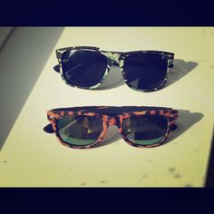 Set of two fun sunglasses Set of two fun sunglasses. Camo and Leopard prints! Gently worn Accessories Sunglasses