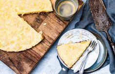 Gezonde ontbijttaart met mango Breakfast Bake, Best Breakfast, Breakfast Recipes, Healthy Snacks, Healthy Recipes, Low Carb Keto, Lunch, Cheese, Baking