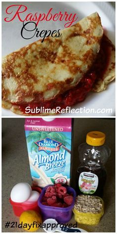 Delicious Crepes made out of oatmeal so they are gluten free. 21 day fix approved recipe. http://sublimereflection.com