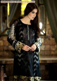 Maria-B Mbroidered Eid Collection 2014 | Pure Silk/Chiffon Unstitched - She9 | Change the Life Style