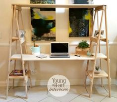 Desk by Young at H-art Interiors Study Decor, Decor, Furniture, Interior Decorating, Home, Interior, Interior Art, Home Decor, Room