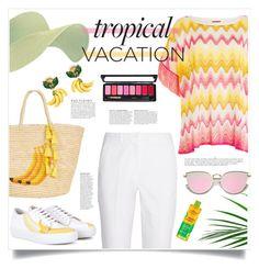 """Tropical Vacation"" by judysingley-polyvore ❤ liked on Polyvore featuring Missoni Mare, Sensi Studio, Michael Kors, Acne Studios, Alba Botanica, Anja and Dolce&Gabbana"