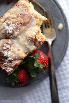 Strawberries and Cream Coffee Cake recipe - a new favorite breakfast treat { lilluna.com }