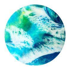 B L U E || F E A T H E R #resin #resinart #art #handmade #beach #local #buylocal #home #homewares #abstract #abstractart #ocean #surf