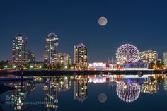 False CreekVancouver full moon night by leowang302