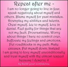 Repeat after me... #affirmations