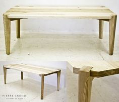 A Pierre Cronje Metro Dining Table in Comsel Ash