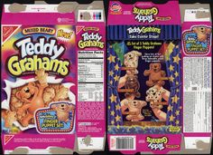 Nabisco - Teddy Grahams - Mixed Beary - New! - snack cookie box - 2001