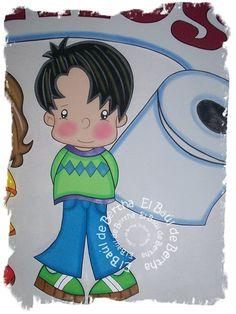 Elaborado en foami diversos colores   letrero para baños escolares       Tamaño  60cm   Precio $150.00     Para Pedidos y/o Consultas...