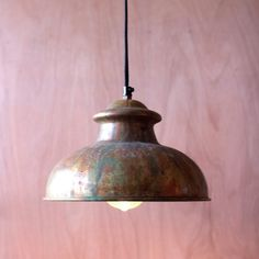 antique rustic pendant - This is the perfect light that adds an eclectic design that reflects light and personality at the same time. This metal pendant lamp features a beautiful variegated copper finish that shines with copious amounts of light. Can be plugged into any standard wall outlet.