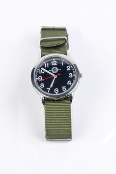 Military Watch with Black Face / Hemingway