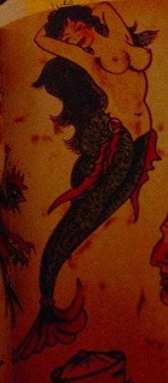 Mermaid. Oldschoolsailortattootofthelegendarymermaid.