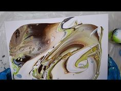 17 Acrylic Dirty Pour - Pebbles on the Beach - YouTube