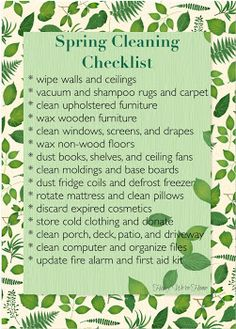 Honey We're Home: Spring Cleaning Checklist