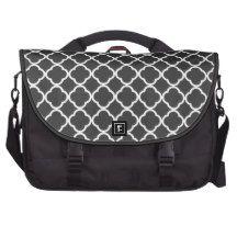 Quatrefoil pattern bag commuter bags