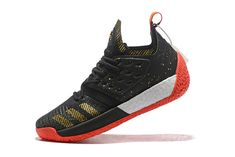 promo code fca9b 9a890 adidas Harden Vol. 2 Black Gold White Red Basketball Shoes