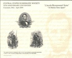 B293 BEP Souvenir Card Central State 2009 Lincoln Bicentennial Series Intaglio