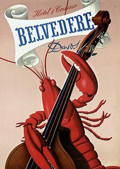1941 Belvedere Hotel & Casino (Switzerland) poster by Kuhn