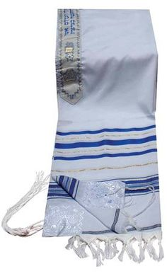 """Kosher Tallit / Talit / Talis Prayer Shawl Acrylic 18""""x72"""" Israel .Blue and Gold *** Click image to review more details."""