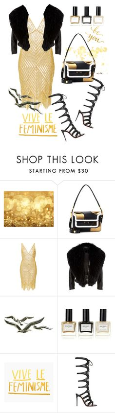 """""""In Gold"""" by atie-212 ❤ liked on Polyvore featuring Marni, Naeem Khan, Harrods, WALL, Balmain and Christian Louboutin"""