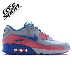 Nike Air Max 90 Grigia Rosa in Pelle 325213-505 http://freesportstyle.com/nike/611-nike-air-max-90-grigia-rosa-in-pelle-325213-505.html