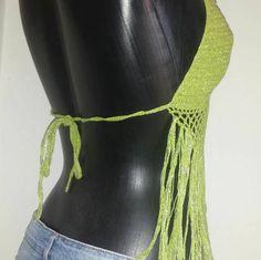 halter de tirantes de ganchillo crochet el Reino Unido de la Crochet Bikini, Crochet Top, Bohemian Style, Bikinis, How To Make, Color, Tops, Dresses, Fashion