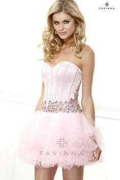 Shop Faviana designer prom dresses at PromGirl. Long formal dresses and gowns for proms and balls and short semi-formal homecoming party dresses. Unique Prom Dresses, Special Dresses, Homecoming Dresses, Cute Dresses, Beautiful Dresses, Short Dresses, Formal Dresses, Homecoming Ideas, Party Dresses