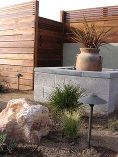modern landscape concrete and wood