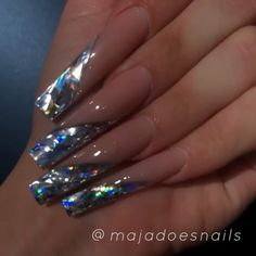 Pin on Nails Bling Acrylic Nails, Best Acrylic Nails, Sparkle Nails, Bling Nails, Pastel Nails, Fabulous Nails, Perfect Nails, Gorgeous Nails, Pretty Nails