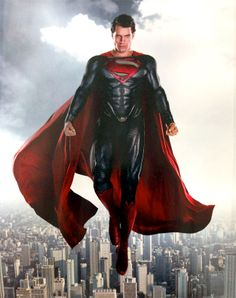 """""""I got to see [Superman costume] through various prototypes and stages of development. … But still, the first time I had it all on with the cape, I deliberately didn't look in the mirror as it was going on. I wanted to have that sort of turnaround moment. Probably one of the best moments of my life, to turn around and realize... that I'm Superman."""" — Henry Cavill, Man of Steel"""