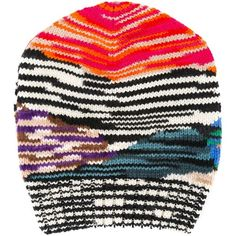 2b2c38a5cf05d Missoni striped pattern beanie (£265) ❤ liked on Polyvore featuring  accessories