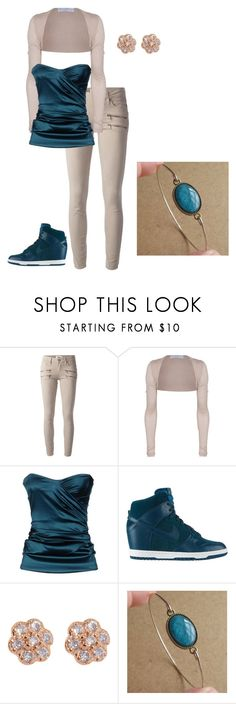 Untitled #36 by jasminalexia on Polyvore featuring Patrizia Pepe, Barbara Schwarzer, Paige Denim, NIKE and Ginette NY