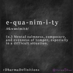 Equanimity #wordlove
