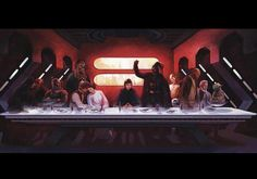 Star Wars last supper.