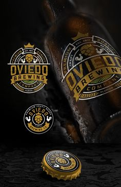 Vintage Hipster Logo Design Amp Social Media Pack For Oviedo Brewing Company