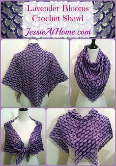 Lavender Blooms Shawl Free Crochet Pattern by Jessie At Home