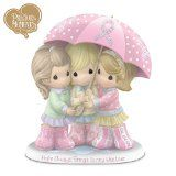 Precious Moments Breast Cancer Support Figurine: Hope Always Brings Sunny Weather by The Hamilton Collection
