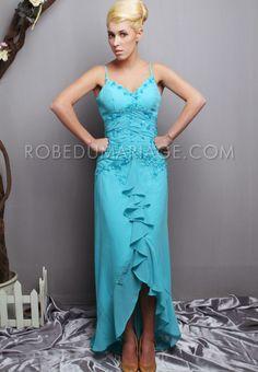 Robe de soirée pas cher pour mariage meilleure venet sur mesure Prix : €89,99 Lien pour cette robe : http://www.robedumariage.com/robe-de-soiree-a-fines-bretelles-broderies-jupe-evasee-en-chiffon-product-284.html  -45% sur tous les produits immanquable !!!!