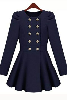 Double Button Blue Coat