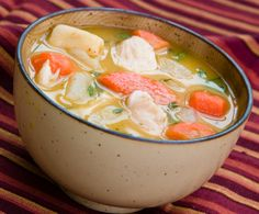 Best Homemade Chicken Soup Recipe. Quinn made this for supper last night. Yummy! He noted that the blogger forgot to include the step where you put the pulled chicken BACK into the soup. You do that at the same time you mix the broth with the veggies.