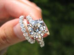 Pave wedding set.
