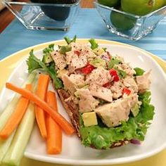 Classic tuna salad just got a makeover! I ditch the high-cal mayo and use creamy nutrient-rich avocado instead. You can mash it up…or leave it in chunks. Serve this Tuna Avocado Salad with crackers, whole-grain bread, or on a bed of salad greens for a quick lunch.